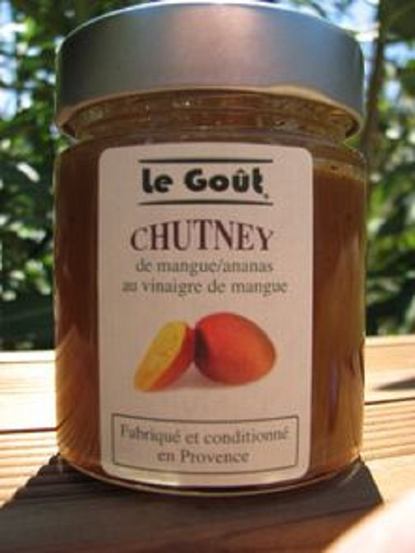 Chutney mangue annanas